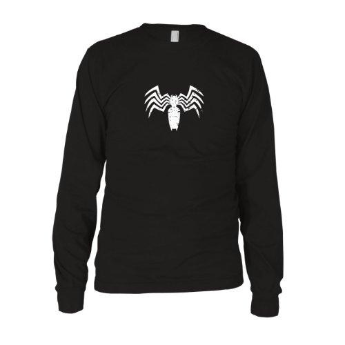 Symbiote - Herren Langarm T-Shirt, Größe: XXL, Farbe: schwarz (Schwarz Kostüm Spiderman Action Figur)