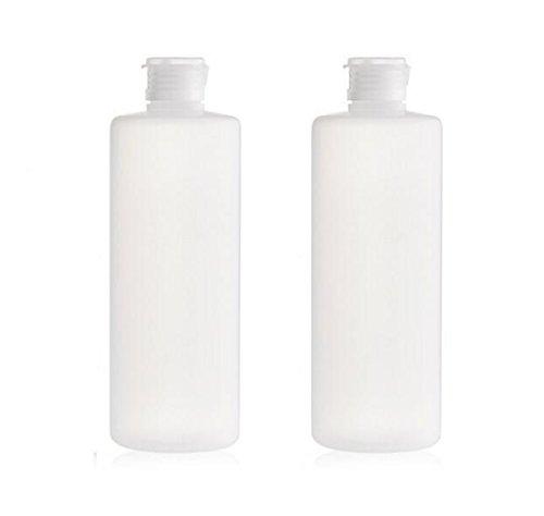 2PCS riempire di plastica trasparente morbido tubo spremere vasi con coperchio di vibrazione imballaggio contenitori di stoccaggio per lozione di toner gel doccia shampoo (200ml/7oz)