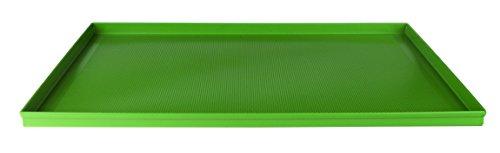 Pentole agnelli pasticceria e pizza teglia rettangolare in lega microforata, foro 2 mm antiaderente, rivestimento per panificatori con bordi dritti, alluminio, 60 x 40 x 2 cm