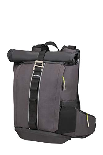 SAMSONITE 2WM - Laptop Backpack Medium - Roll Top Rucksack, 64.5 cm, 20 Liter, Black (Rucksack Samsonite Räder)