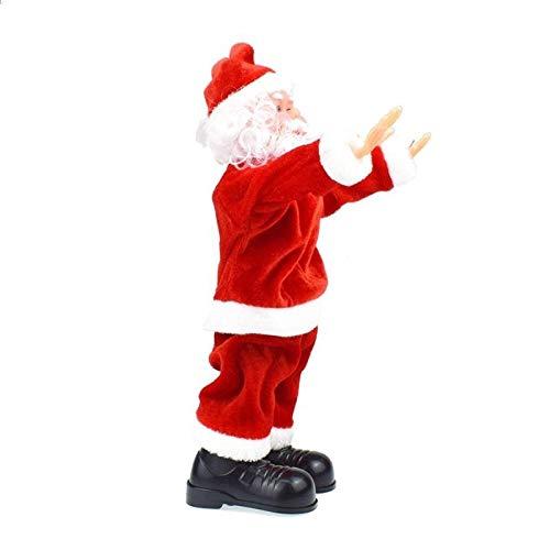 GYK Boutique Adorno navideño, Flip Santa Claus Juguete eléctrico