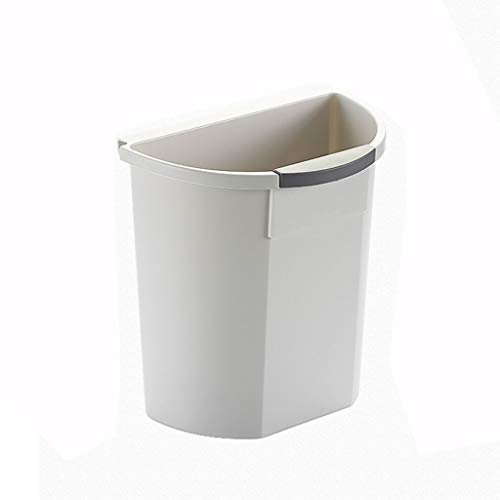 Xu Yuan Jia-Shop- Nordischen Stil Wand Küche Mülleimer Kreative Lagerplatz Kunststoff Aufbewahrungsbox Mülleimer (Color : Gray)