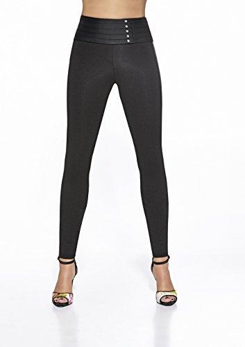 elegante Shape-Leggings versch. Styles * formend modellierend schlankmachend * Gr. S M L XL XXL Schlankmacher Leggins Damenhose Push-Up Schwarz (Carla)
