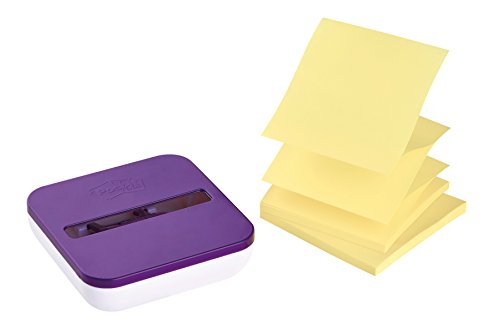 Post-it VD-330G Spender für Super Sticky Z-Notes, Lila/Weiß, 1 Spender, 2 Blöcke À 45 Blatt