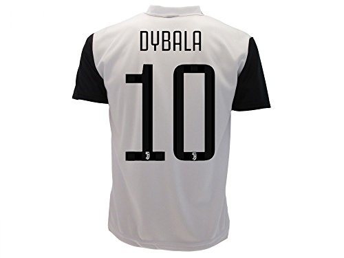 Maglia dybala 2018 juventus numero 10 ufficiale stagione 2017/2018 replica autorizzata paulo dybala dieci juve (l adulto)