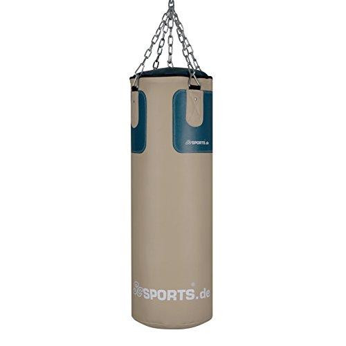 ScSPORTS  Boxsack-Set bestehend aus 25 kg schwerem Boxsack mit 5-Punkt Stahlkette, Boxhandschuhen und Boxbandagen Abbildung 2
