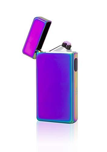 TESLA Lighter T13 Lichtbogen-Feuerzeug, elektronisches USB Feuerzeug, Double-Arc Lighter, wiederaufladbar, Regenbogen