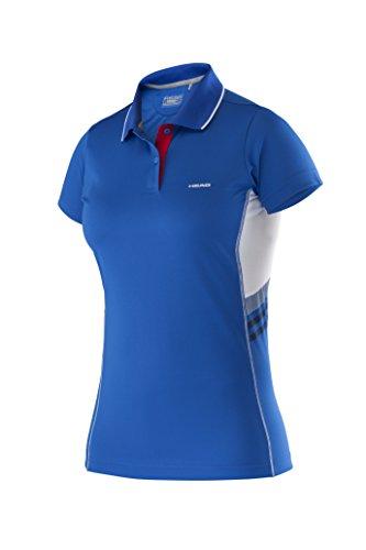 Head club w technical maglieta polo, da donna, colore blu (blau), taglia medium