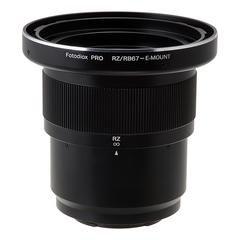 Fotodiox Pro Adapter New Mamiya Objektive an Sony E-Mount spiegellose Kamera mit Focusing Barrel, schwarz (rbrz67-snye-pro) (Mamiya 7 Objektive)