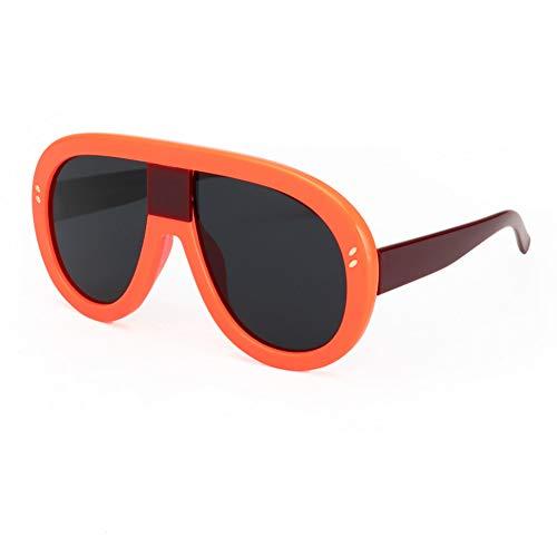 SYQA Sonnenbrille Übergroße Neue Frauen Markendesigner Vintage Spiegel Big Frame Rivet Shades Stil Damen Brillen Brillen,C1
