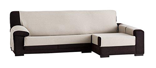 Eysa constanza copridivano per chaise longue 240 cm colore lino shop online divani - Copridivano per divano con chaise longue ...