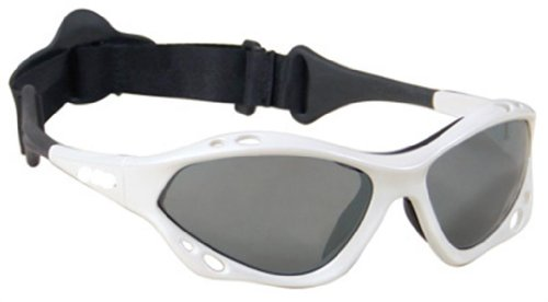 DEVOCEAN by Jobe Wassersport Brille Sonnenbrille Kiten Surfen Segel Windsurfen (white devocean)