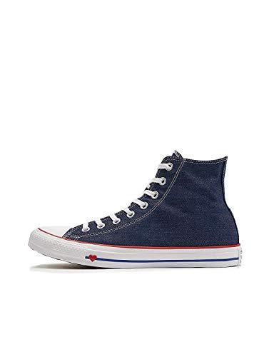 Converse Unisex-Erwachsene Chuck Taylor All Star Hohe Sneaker, Blau (Indigo/Enamel Red/Blue 000), 37 EU