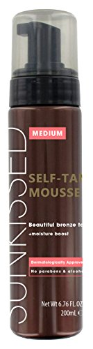 Sunkissed Instant Self Tanning Mousse 200ml - Medium Bronze (Tanning Instant Mousse Self)