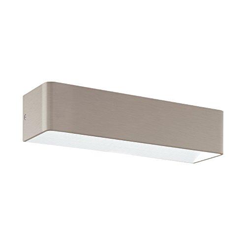 EGLO Wandleuchte, Aluminium, Integriert, Nickel-matt, 36.5 x 10 x 8 cm -