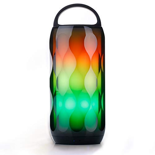 Ruitx LED-Booth-Leudow RGB Touch Night Light 5W Speaker, Portable Color Change 6 Color Smart LED Themes Bedside Table Lamp, Speakerphone/Handsfree/MicroSD