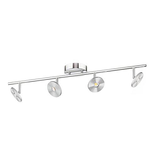 ledscom LED Lampada da soffitto Nunki, a quattro luci, bianca