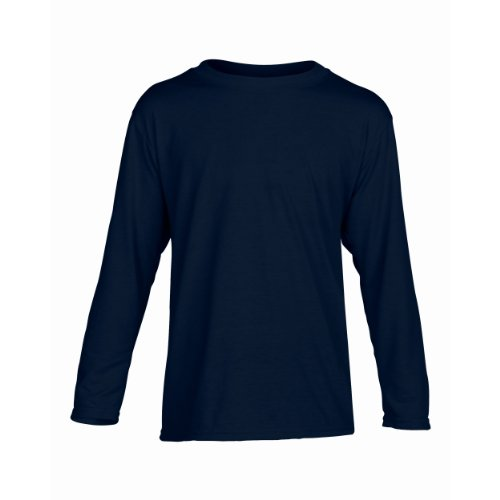 Gildan Kinder Unisex Performance T-Shirt, Langarm Sport Grau