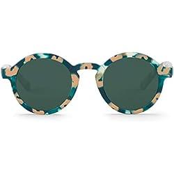 MR. BOHO Dalston Gafas de Sol, Green Animalia, 44 Unisex