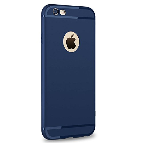 Enflamo Soft Silicone Slim Back Cover Case For Apple iPhone 6 & 6S - Dark Navy Blue