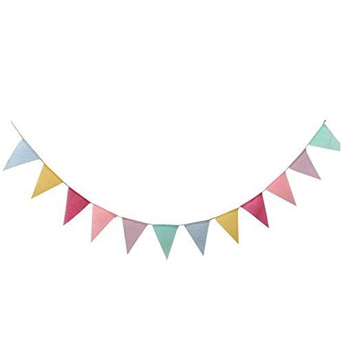 Demarkt Girlande Wimpel Kette Wimpelkette für Party 4m*12.5cm*17cm Bunt