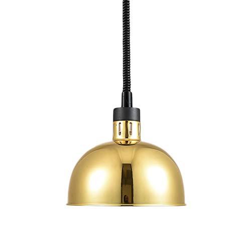 LY CROWM 250W Lebensmittel-Wärmelampe,Handelslebensmittel-Heizlampe Verstellbarer Kronleuchter Einzelkopfbeleuchtung Geeignet für Cafeterias,18Kgold
