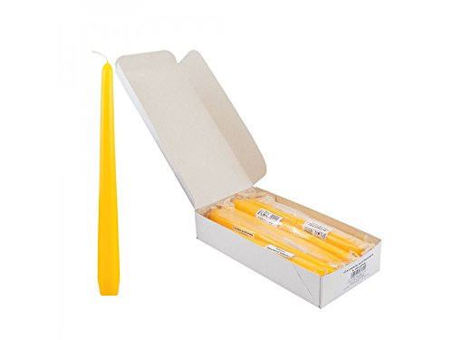 Girm® - hx25lp candela liscia profumata cm 25. aroma limone. 1 pezzo - candele da tavola per feste. candele colorate per natale . cero profumato