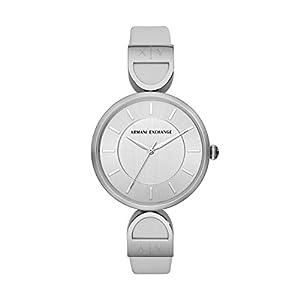 Armani Exchange Damen Analog Quarz Uhr mit Leder Armband AX5325