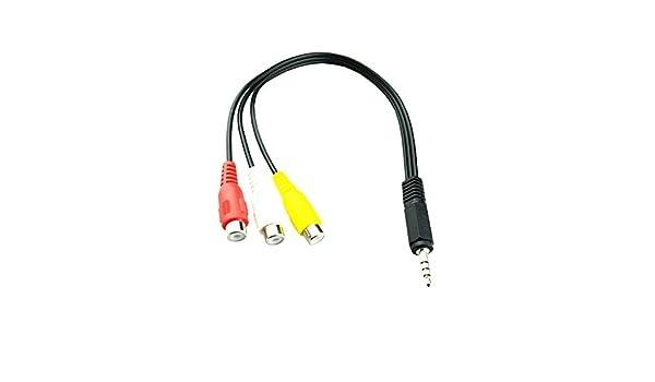 1PC 25/cm 3.5/mm AV maschio a 3/RCA femmina audio video cavo adattatore jack stereo cavo del cavo nero