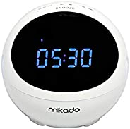 Mikado MD-99BT 3W+3W Beyaz FM Radyo Destekli Saat ve Alarmlı Bluetooth Speaker, Siyah