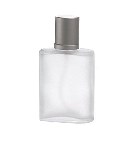 30 ml Vaporisateur Rechargeable en verre givré Parfum Atomiseur Bouteille vide bouteille avec un bouchon