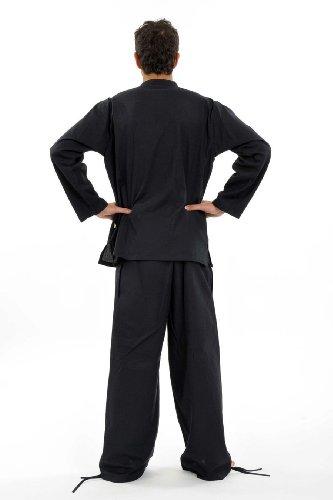 Fantazia-Ibrido da uomo, pantaloni da donna, tinta unita Nero