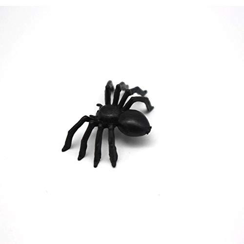 EROSPA® 50 Stück Schwarze Spinnen für Party-Dekoration | Halloween - Grusel - Horror | 2,5 x 1,5 x 0,7 cm - 6
