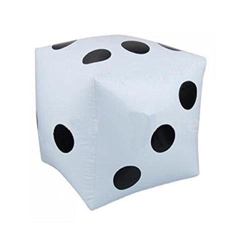 PIXNOR–32cm Hinchable Blanco Dados–Decoración de Fiesta/Favor//Toy de regalo de Prank