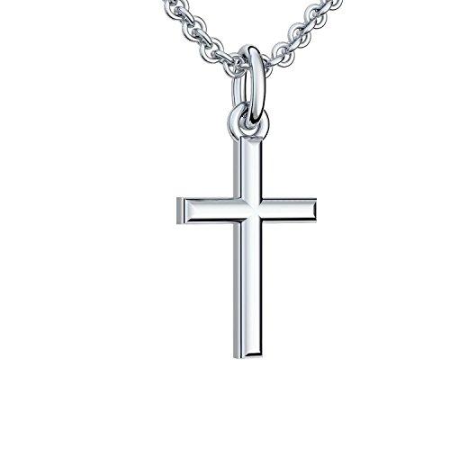 Silberkreuz mit Kette Taufkette Kreuz Kreuz Kette Anhänger Silber 925 Taufgeschenke Taufschmuck für Junge Mädchen Damen Frau Herren Religiöser Schmuck Christliche Ketten FF05-3 SS92545 - 2