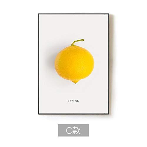 ��Einfache Und Stilvolle Aquarell Essen Gelbe Früchte Zitrone Dekor Leinwand Gemälde Kunstdruck Poster Bild Wand Schlafzimmer Wohnzimmer Dekoration Malerei Wandbild(1), 50 * 60 ()