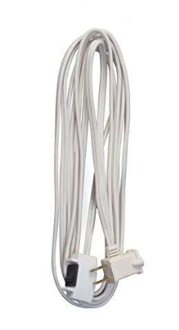 Coleman Cable 09345 16/2 SPT-2 Remote Control Extension Cord with Power Switch, 15-Foot, White by Coleman Cable