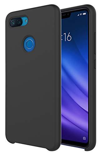 Pacyer Funda Compatible conXiaomi Mi 8 Lite, Ultra Suave TPU Gel de Silicona Case Protectora Suave Flexible teléfono Absorción de Impacto Elegante Carcasa Compatible Xiaomi Mi 8 Lite (Negro)