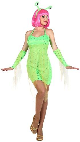 Atosa 22986 - Alien weibliches Kostüm, Größe XS-S, grün (Alien 1 Kostüm)