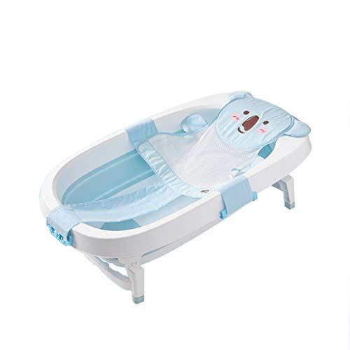 KANGSHENG Faltbare Wanne Baby-Duschwanne Baby-Wanne Faltbare Wanne Kinder Faltbare Falte bis 9 cm (Multi-Color optional) (Farbe : Blau) - Liefert Die Badezimmer-reinigung