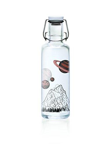 soulbottle 0,6l Trinkflasche aus Glas ? verschiedene Designs, Made in Germany, vegan, plastikfrei, Glastrinkflasche, Glasflasche (the sky is not the limit)