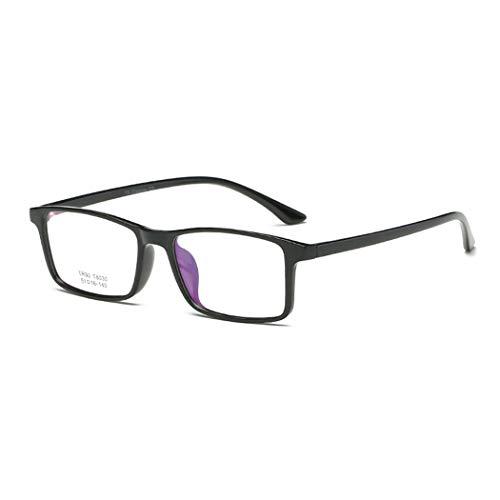 GUKOO Unisex Brillengestell TR90 Slim Rechteck Klare Linse Brille Nerd brille ohne stärke brille vintage brille