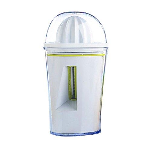 2in 1, Gemüseschneider, Zitruspresse, multifunktional Spiralizer, Handheld Squeezer Obst für perfekt orange, Zitrone oder limette Saft triangle weiß