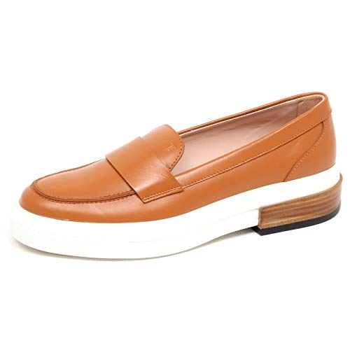 Tod's F3340 Mocassino Donna Light Brown Scarpe Loafer Shoe Woman [38]