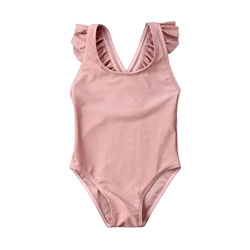 VBWER Damen Volant Bikini High Waist Zweiteiliger Swimsuit Set Sexy Nackenträger Push Up Sportliches Bademode Einfarbig Strand Swimwear