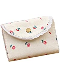 Lori Cute Floral Pattern Credit Card Holder Wallets Canvas Card Case Card Sets Coin Purse