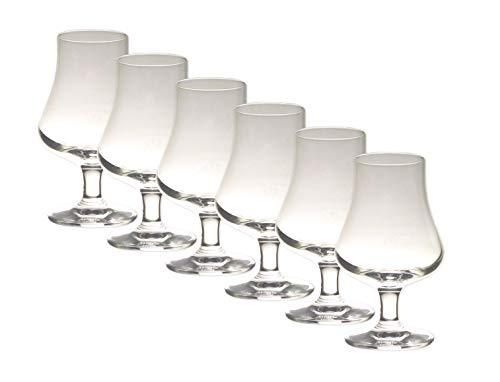 Glentaste Whisky Nosing Glas 6er Set - Tasting Glas - Elegantes Whiskeyglas mit Aufdruck der Whiskymarke Set 6 Stück - Stölzle Lausitz