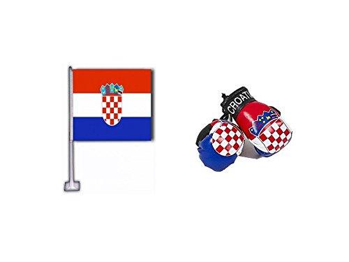 Croatia Combo-Pack mit Auto-Flagge und Mini-Boxhandschuhen
