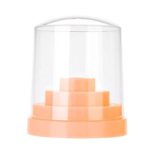 Nail Foret Support titulaire de foret à ongles professionnel Nail Art en plastique perceuse stand pour Nail Art Foret Organisateur titulaire de la boîte(48 trous)(Orange)