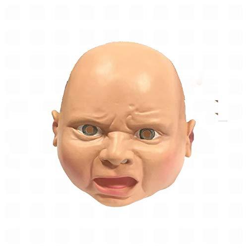 n Cosplay Maske Der Lustigen Baby-Latexmaske des Verärgerten Gesichtssmileygesichtes Der Straße,Wütendes Gesich,1 ()